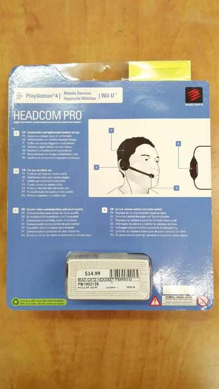 MAD CATZ HEADSET PS4/WII-U HEADCOM PRO
