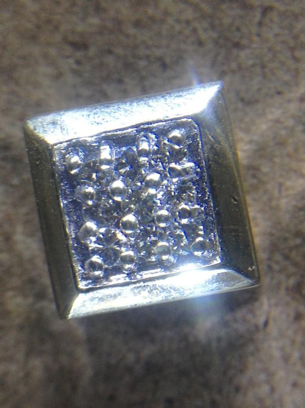 Gold-Multi-Diamond Pendant 9 Diamonds .27 Carat T.W. 10K Yellow Gold 1.4g