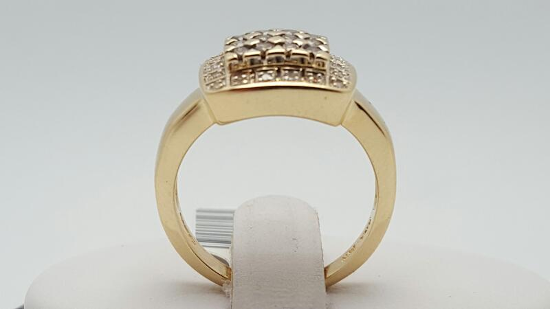 Lady's Diamond Fashion Ring 36 Diamonds .58 Carat T.W. 14K 2 Tone Gold 6.4g