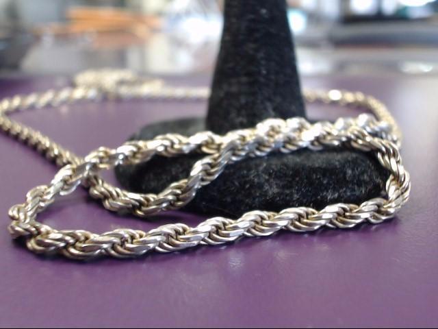 """24"""" Silver Fashion Chain 925 Silver 22.37g"""