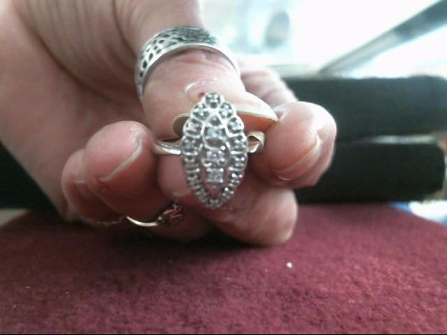 Lady's Diamond Fashion Ring 17 Diamonds .130 Carat T.W. 14K White Gold 2.8dwt