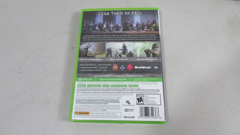 DRAGON AGE INQUISITION XBOX 360 Game
