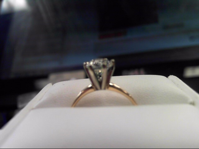 Lady's Diamond Solitaire Ring 1.30 CT. 10K Yellow Gold 2.58g