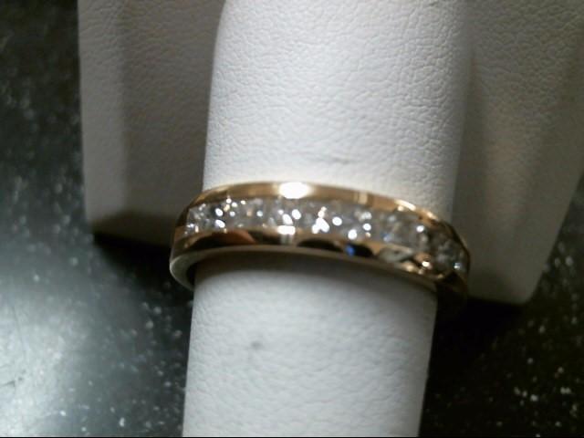 Gent's Gold-Diamond Wedding Band 10 Diamonds 1.00 Carat T.W. 18K Yellow Gold