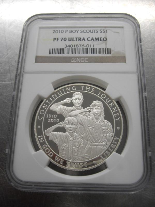 2010 P BOY SCOUTS S$1 NGC PF70 # 3401876-011