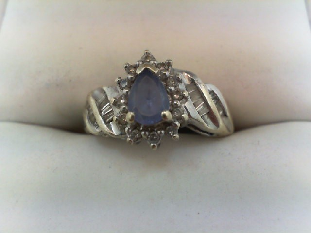 Synthetic Purple Stone Lady's Stone & Diamond Ring 26 Diamonds 0.26 Carat T.W. 1