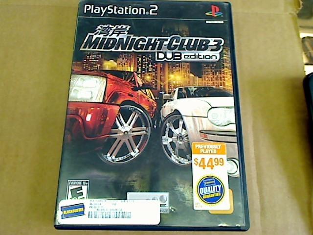 PLAYSTATION 2 MIDNIGHT CLUB 3