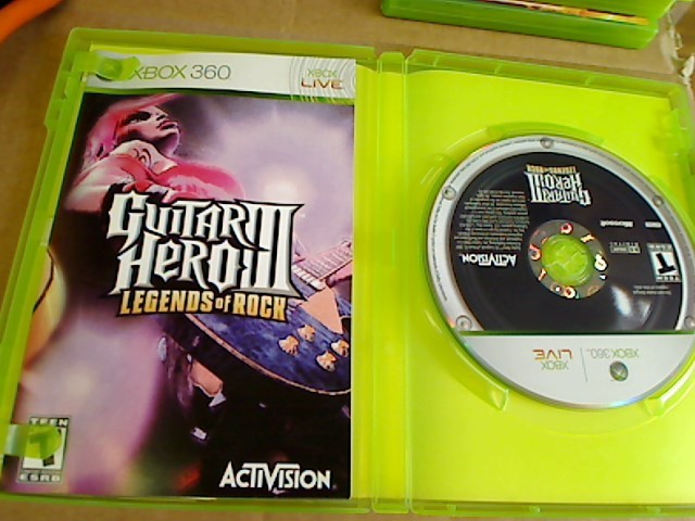 XBOX 360 - GUITAR HERO III LEGENDS OF ROCK