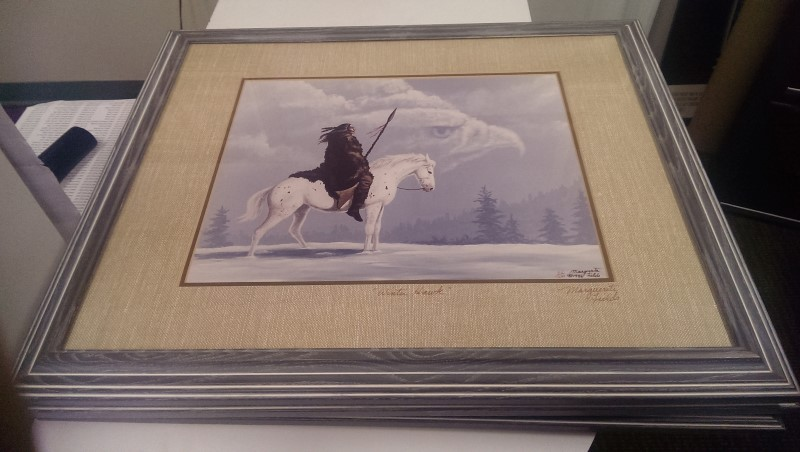 MARGUERITE FIELDS 3 PRINT SET THE GUARDIANS,WINTER HAWK,THE GREETING