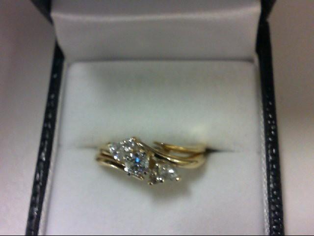 Lady's Diamond Wedding Set 5 Diamonds 0.41 Carat T.W. 14K Yellow Gold 4.7g
