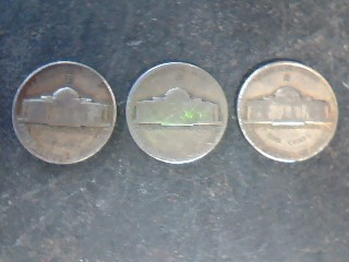 UNITED STATES 35% Silver Coins WAR NICKELS assorted lot of 3