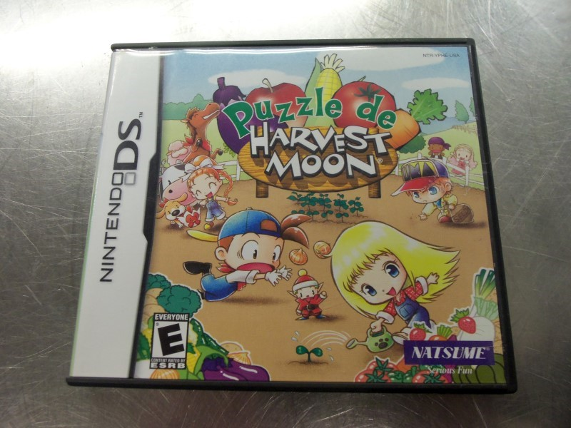 NINTENDO DS PUZZLE DE HARVEST MOON GAME & CASE & BOOKLET