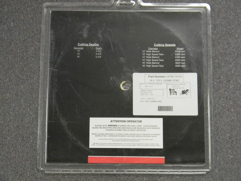 "Dixie Diamond Manufacturing - 14"" Diamond Blade - General Purpose - GPMC14125"