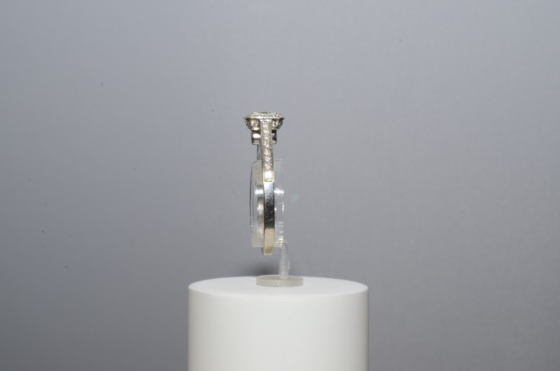 Lady's Diamond Engagement Ring 76 Diamonds .89 Carat T.W. 14K White Gold 3.6g