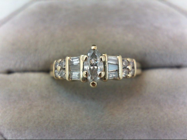 Lady's Diamond Engagement Ring 15 Diamonds .50 Carat T.W. 14K Yellow Gold 3.7g
