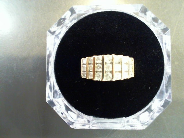Lady's Diamond Fashion Ring 21 Diamonds 1.11 Carat T.W. 14K Yellow Gold 4.6g
