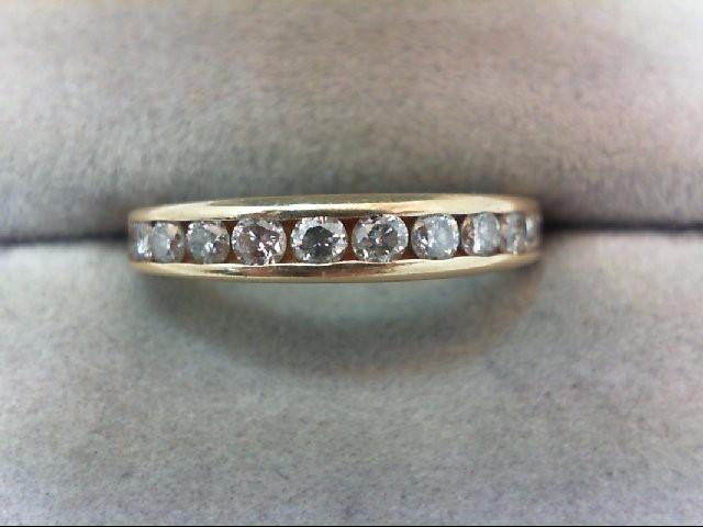 Lady's Diamond Wedding Band 11 Diamonds .66 Carat T.W. 14K Yellow Gold 2g