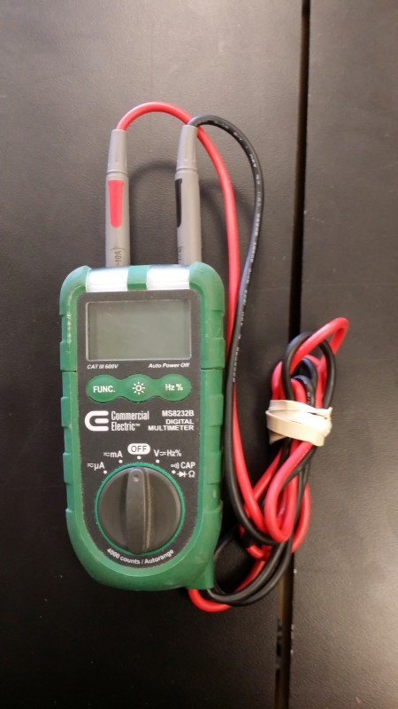 COMMERCIAL ELECTRIC Multimeter MS8232B