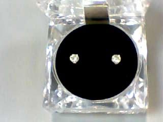 Gold-Diamond Earrings .66 CT. 14K Yellow Gold 0.4dwt