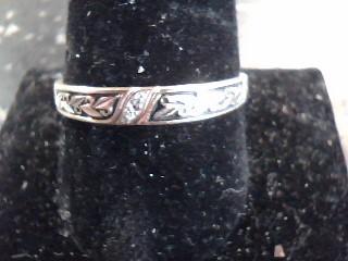 Lady's Diamond Cluster Ring 2 Diamonds .02 Carat T.W. 10K Yellow Gold 1.5dwt
