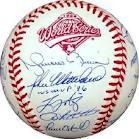 NY YANKS 1996 SIGNED BALL WORLD