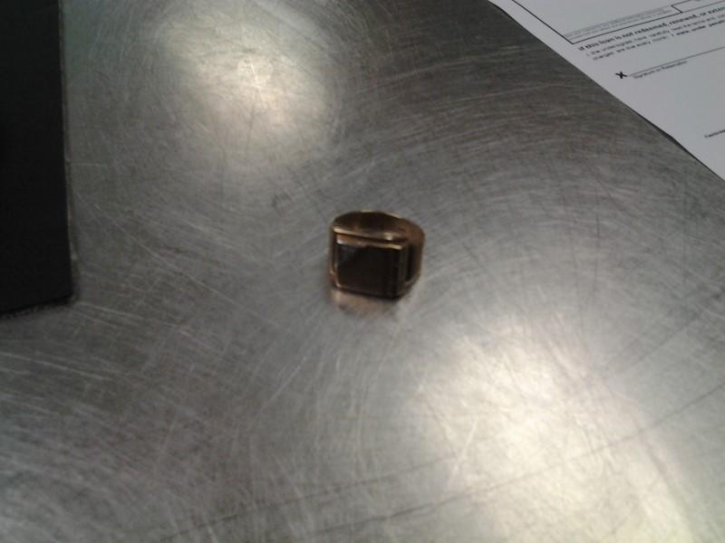 Gent's Diamond Fashion Ring .01 CT. 10K 2 Tone Gold 5.9g Size:7.5