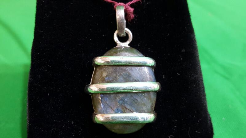 Black Stone Silver-Stone Pendant 925 Silver 8.5g