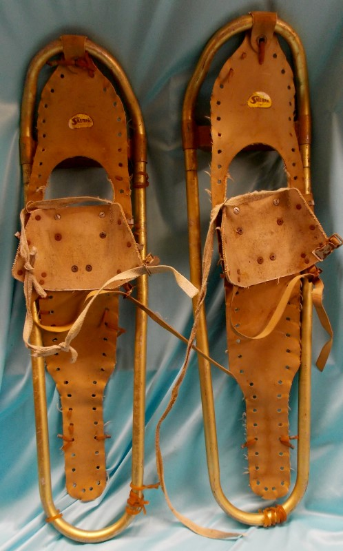 "Vintage SHERPA SNOW CLAW Snowshoes, 9"" x 34"", Need to be restrung"