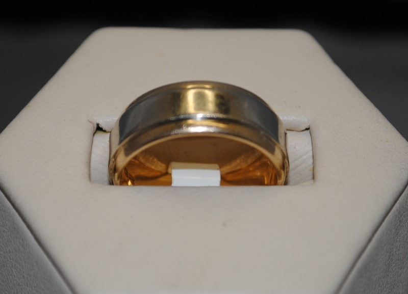 Gent's Gold Ring 14K 2 Tone Gold 6.8g