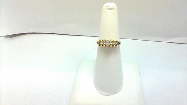 Lady's Diamond Cluster Ring 6 Diamonds .48 Carat T.W. 14K Yellow Gold 2.9g