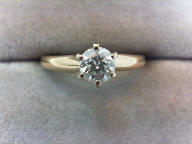 Lady's Diamond Solitaire Ring .46 CT. 14K Yellow Gold 2.9g