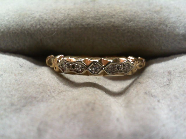 Lady's Diamond Wedding Band 5 Diamonds .05 Carat T.W. 14K Yellow Gold 1g