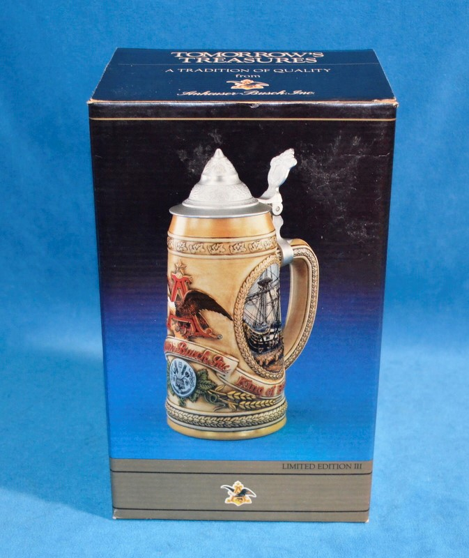 ANHEUSER-BUSCH TOMORROW'S TREASURES BEER STEIN LIMITED EDITION III