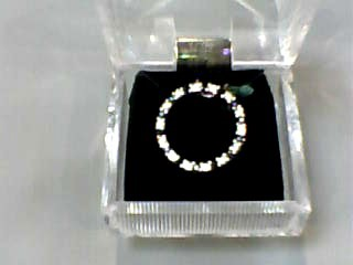 Sapphire Gold-Diamond & Stone Pendant 14 Diamonds .14 Carat T.W. 14K White Gold