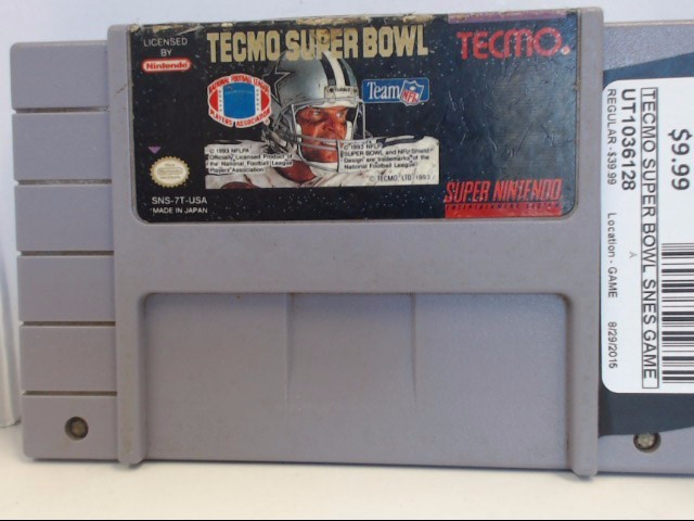 NINTENDO SNES TECMO SUPER BOWL *CARTRIDGE ONLY*