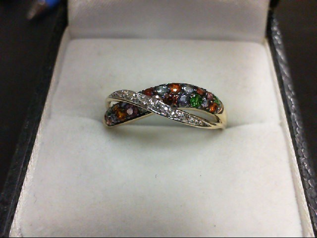Lady's Diamond Fashion Ring 6 Diamonds 0.06 Carat T.W. 14K Yellow Gold 2.1g
