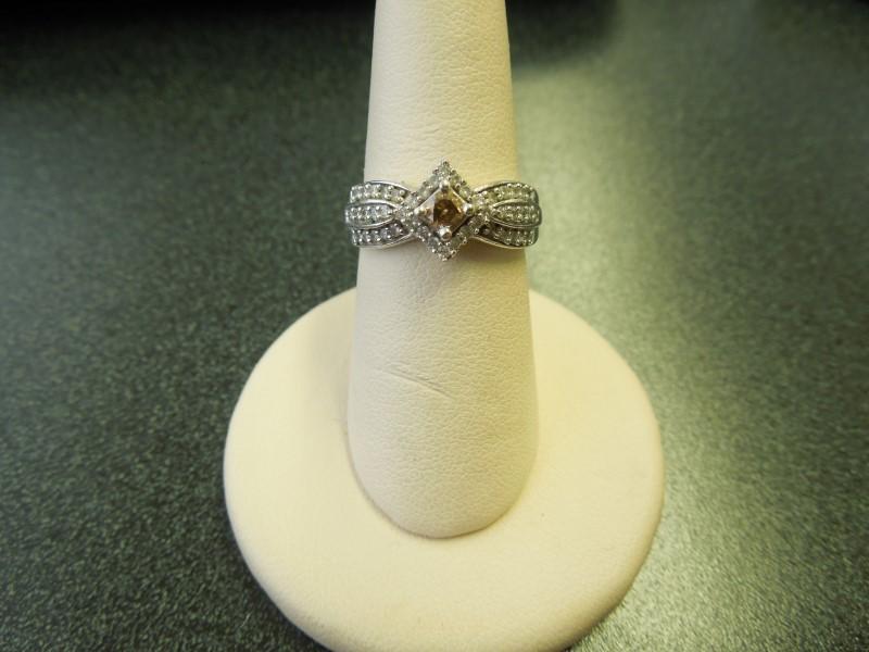 Lady's Diamond Fashion Ring 46 Diamonds .58 Carat T.W. 10K White Gold 3.3g