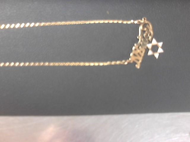 "15.5"" Diamond Necklace 6 Diamonds .06 Carat T.W. 14K Yellow Gold 3.4g"