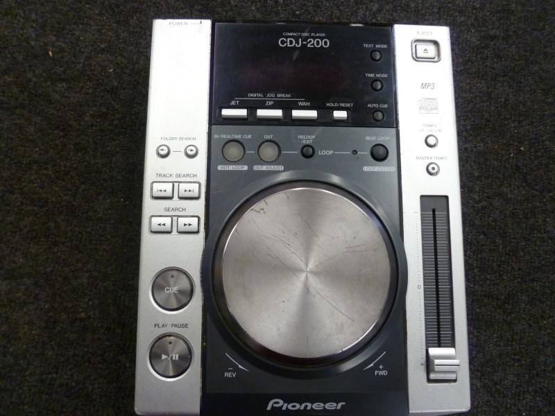 PIONEER ELECTRONICS CD CDJ-200 PLAYER/RECORDER