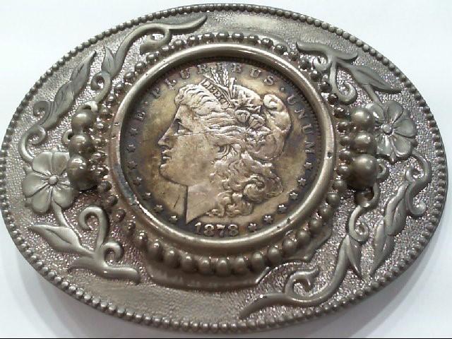 Silver Belt Buckle Silver Plate 125.7g