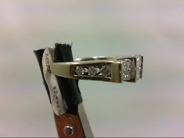 Lady's Diamond Wedding Band 18 Diamonds 1.44 Carat T.W. 14K White Gold 5.07g Siz