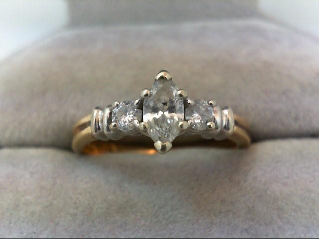 Lady's Diamond Wedding Band 3 Diamonds .50 Carat T.W. 14K Yellow Gold 3.4g