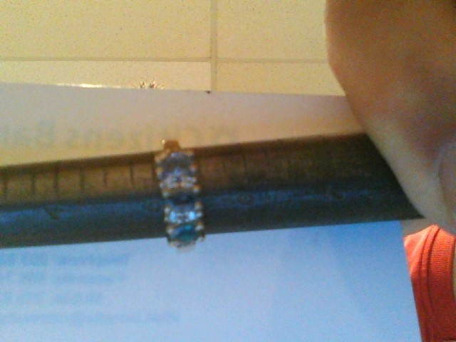 Synthetic Aquamarine Lady's Stone & Diamond Ring 8 Diamonds .16 Carat T.W.
