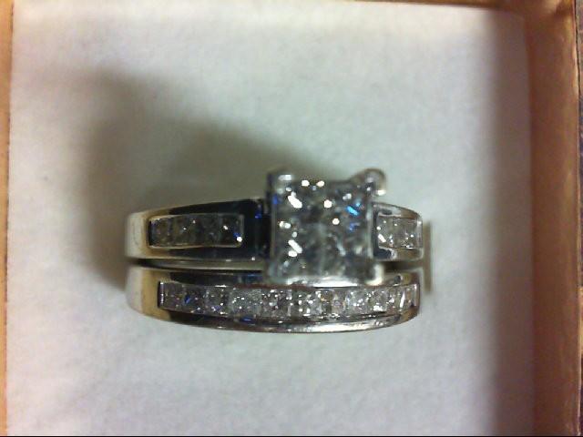 Lady's Diamond Wedding Set 23 Diamonds 1.13 Carat T.W. 14K White Gold 7.6g