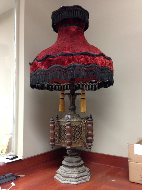 LAMP ORIGINALLY FROM PHILADELPHIA BROTHEL EXACT DATE UNKNOWN