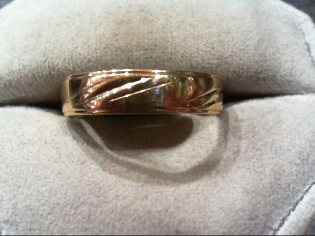 Gent's Gold Wedding Band 10K Yellow Gold 2.8g Size:10