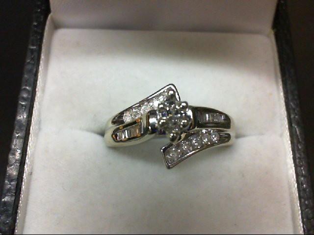 Lady's Diamond Wedding Set 23 Diamonds 0.5 Carat T.W. 14K White Gold 4.4g