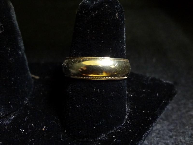 Men's 14k Yellow Gold Wedding Band