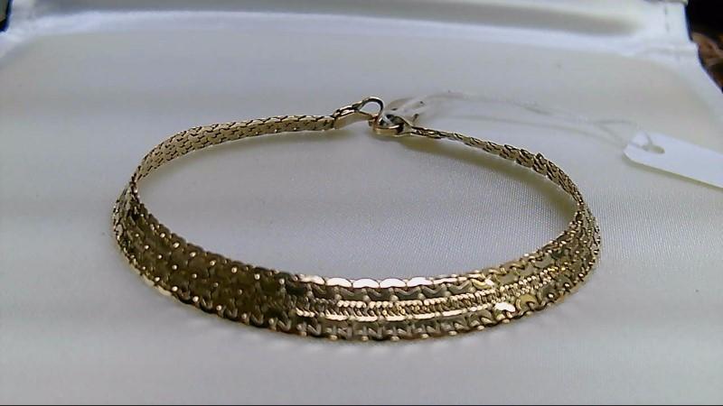Gold Fashion Bracelet 14K Yellow Gold 7.7g
