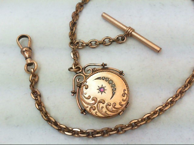 OPAL AND SEED PEARL G.F. WATCH FOB